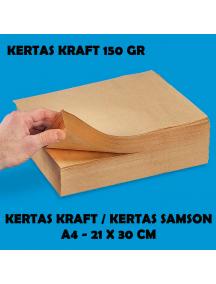 KF1031 - Kertas Kraft / Kertas Samson / Kertas Packing Premium Tebal 150 gr Size a4