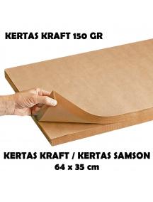 KF1033 - Kertas Kraft / Kertas Samson / Kertas Packing Premium Tebal 150 gr Size 76x41 cm