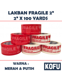 "KF1035W - Lakban Fragile 48mm / OPP Tape 2"" (48mm x 100yard)"