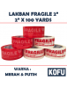 "KF1035W - Lakban Fragile 48mm / OPP Tape 2"" (48mm x 100yard)"