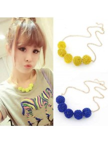 RKL1071W - Aksesoris Kalung Candy Color Ball