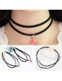 RKL1146W - Kalung Choker Beads Ball