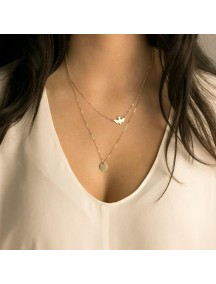 RKL1189 - Aksesoris Kalung Doublelayer Dove Necklace