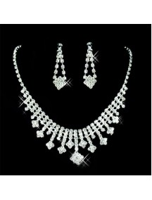 RKL1208 - Aksesoris Kalung Diamond Bridal Set Flash