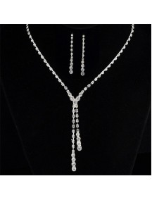 RKL1209 - Aksesoris Kalung Diamond Bridal Set Simple