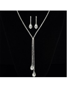 RKL1210 - Aksesoris Kalung Diamond Bridal Set Drop