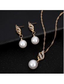 RKL1211 - Aksesoris Kalung Wavy Pearl Necklace