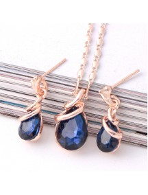 RKL1220W - Aksesoris Kalung Shell Drop Pendant Necklace Set