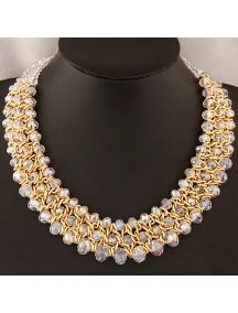 RKL5921 - Aksesoris Kalung Metal Crystal