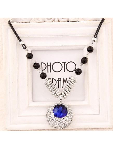RKL6192 - Aksesoris Kalung Oval Diamond Gems