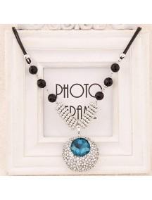 RKL6194 - Aksesoris Kalung Oval Diamond Gems