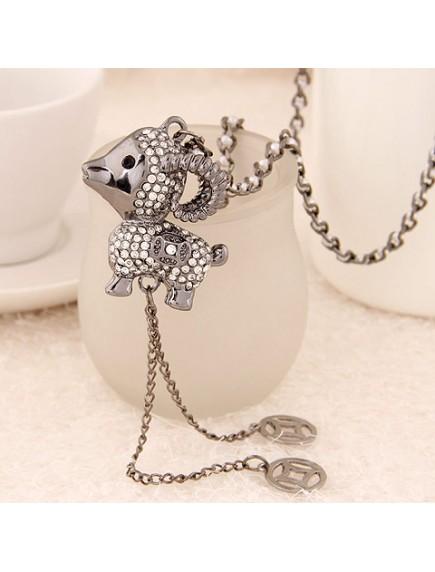 RKL6232 - Aksesoris Kalung Sheep Zodiac Diamond