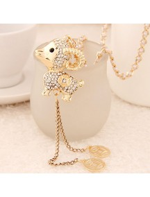 RKL6233 - Aksesoris Kalung Sheep Zodiac Diamond