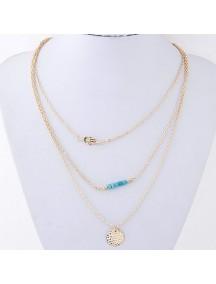 RKL6471 - Aksesoris Kalung Chain Beads Element