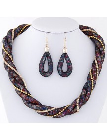 RKL6476 - Aksesoris Kalung Metal Chain Shine Set