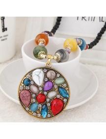 RKL6993 - Aksesoris Kalung Jewel Metal Bunga