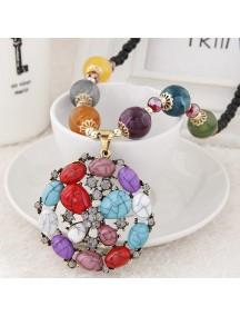 RKL6994 - Aksesoris Kalung Jewel Metal Bunga