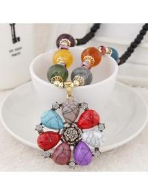 RKL6996 - Aksesoris Kalung Jewel Metal Bunga