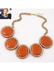 RKL7038 - Aksesoris Kalung Metal Gem Collar