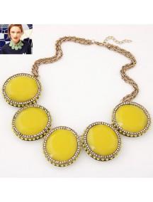 RKL7039 - Aksesoris Kalung Metal Gem Collar