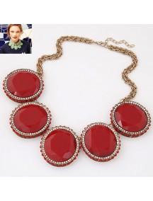 RKL7041 - Aksesoris Kalung Metal Gem Collar