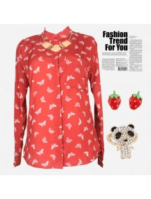 RBJ1010 - Butterfly Top (Red)