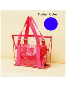 HO1850B - Tas  Fashion Transparan Besar ( Biru )