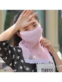 HO4427B - Masker Anti Uv Matahari & Debu Flower Pattern ( Pink )