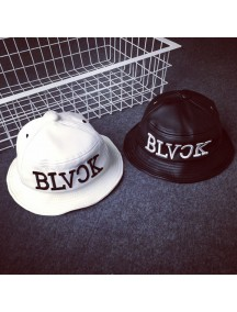 HO4888 - Topi Bucket Hat Leather Letter