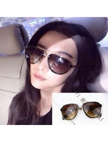 HO4420 - Kacamata Fashion Vintage Style ( Brown )