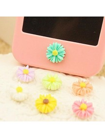 HO4452 - Aksesoris Handphone Iphone Home Button Daisies ( Random )