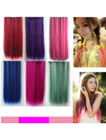 HO4518 -  Wig Hair Clips Japan Harajuku Ungu Lurus (Ungu)