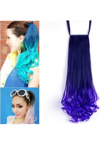 HO4553 - Pony Tail Wig Gradient Blue