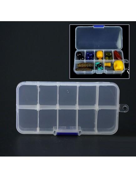 HO4631 - Box Plastik / Box Partisi / Box Perhiasan / Kotak Obat 10 Grid