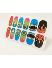HO4807-Z9034 - Glitter Gum Nail Stickers Harajuku