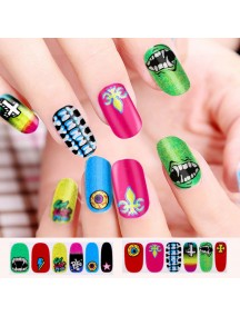 HO4807-Z9037 - Glitter Gum Nail Stickers Harajuku