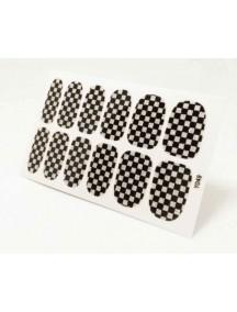 HO4807-Z9049 - Glitter Gum Nail Stickers Checkered