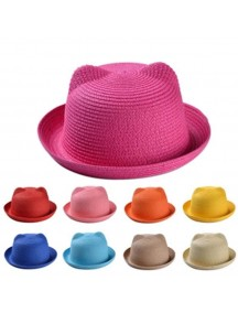 HO4856 - Topi Sun Hat Beach Colorful Cat
