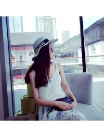 HO4872 - Topi Pantai Sun Hat Beach Blue Fashion