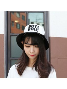 HO4881 - Topi Bucket Hat Black White