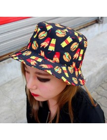 HO4886 - Topi Bucket Hat Burger & Fries