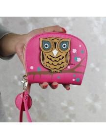 HO2666E - Dompet Fashion Burung Hantu (Ungu)