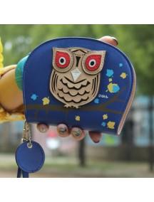 HO2666F - Dompet Fashion Burung Hantu (Biru)