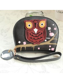HO2666G - Dompet Fashion Burung Hantu (Hitam)