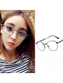 HO4323 - Kacamata Fashion Retro ( Dark Grey Frame )