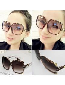 HO4399C - Kacamata Fashion Square Style ( Leopard Frame )