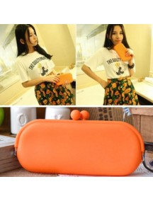HO1033E - Dompet Fashion SIlicone (ORANGE)
