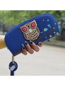HO2663F - Dompet Fashion Burung Hantu (Biru Tua)