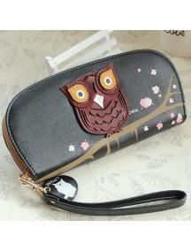 HO2663G - Dompet Fashion Burung Hantu (Hitam)