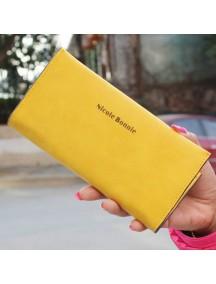 HO3566B - Dompet Fashion Minimalis Matte Slim (Kuning)